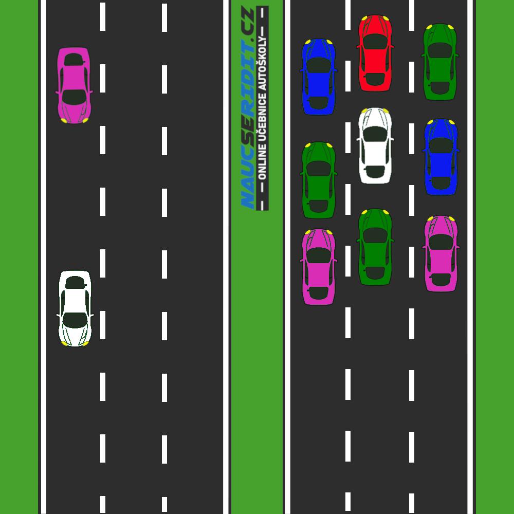 Proudy vozidel v koloně