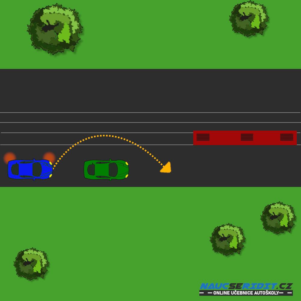 Správná jízda podél tramvaje