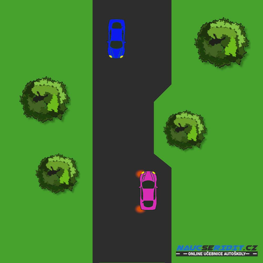 Vyhýbání vozidel ve zúžení