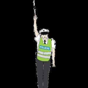 Policista signál pozor