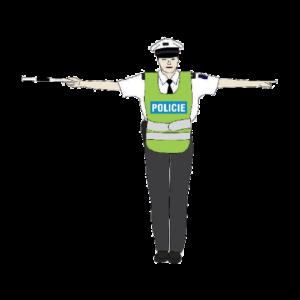 Policista signál stůj
