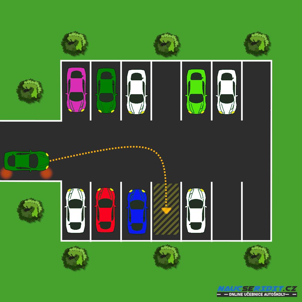 Parkování popředu krok 1