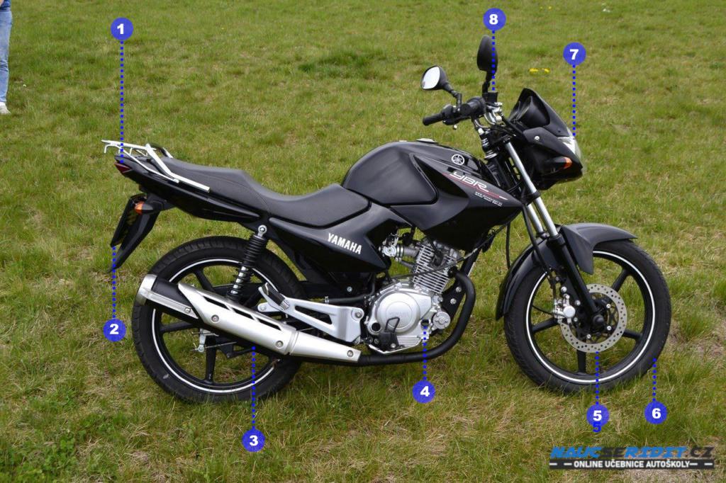 Kontrola motocyklu před jízdou