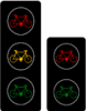 Tříbarevná soustava se signály pro cyklisty